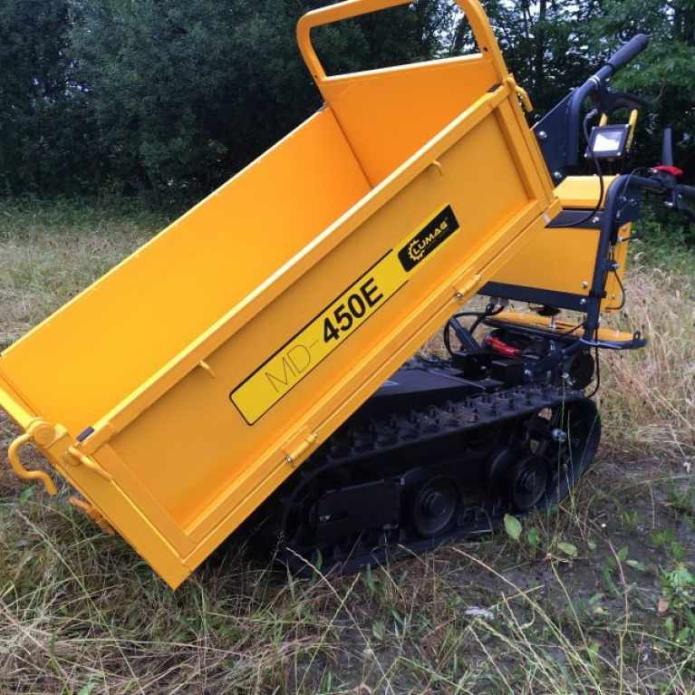Lumag MD450E 450kg Electric Tracked Dumper with Manual Tip