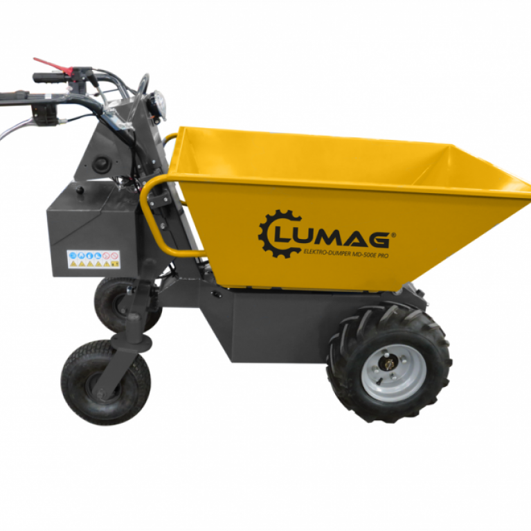 Lumag MD500E 500kg Electric Power Barrow with Pneumatic Tip
