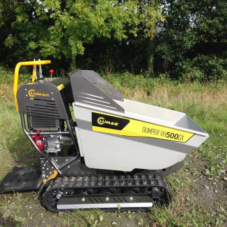 Lumag VH500GX 500kg Track Barrow with Petrol Honda Engine and Hydraulic Tip