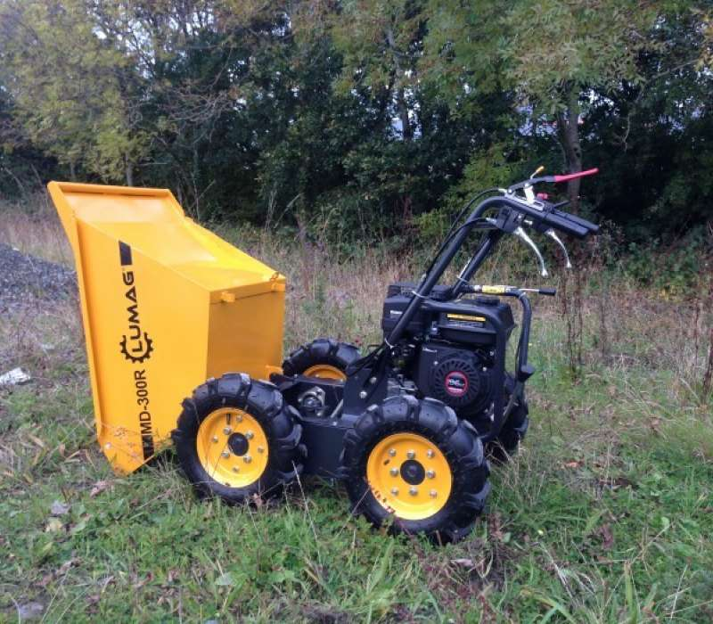 Lumag MD300R 300kg Petrol Power Barrow with Manual Tip Image 3308