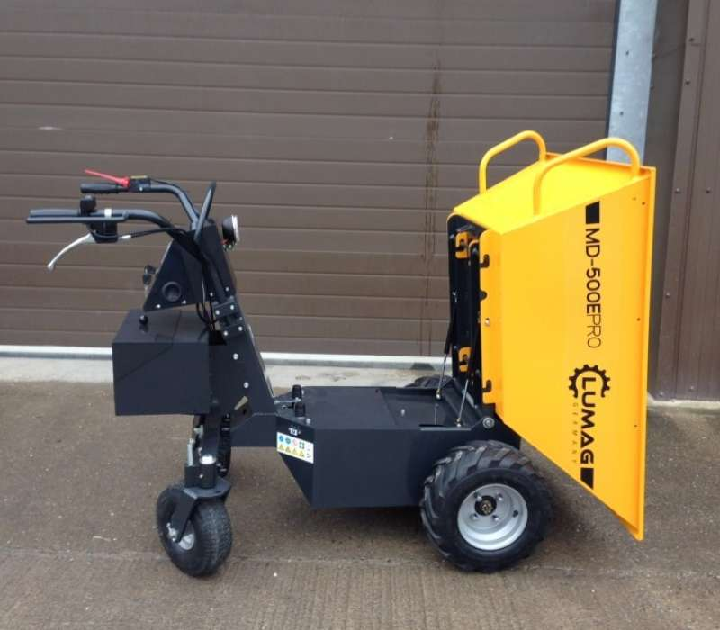 Lumag MD500E 500kg Electric Power Barrow with Pneumatic Tip Image 3321