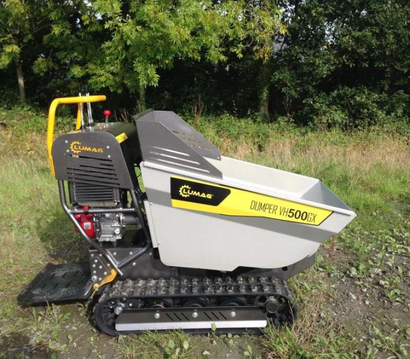 Lumag VH500GX 500kg Track Barrow with Petrol Honda Engine and Hydraulic Tip Image 3340